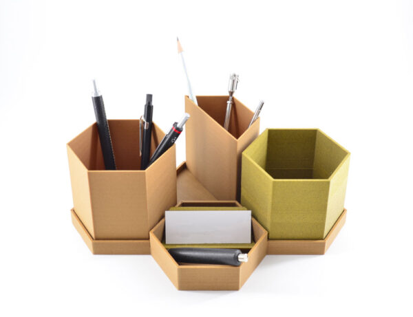 Hemprinted organizzatore scrivania esago