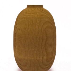 Hemprinted velvet vase